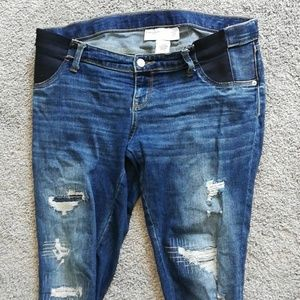 Size small skinny ankle maternity jeans